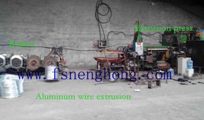 Aluminum wire/rope extrusion.
