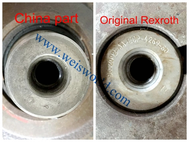 How to distinguish the parts of original Rexroth from China parts?