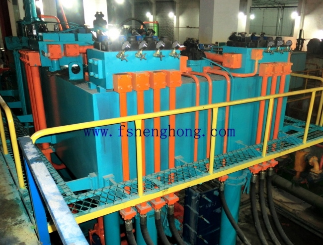 The clean method of hydraulic oil reservior of aluminum extrusion press